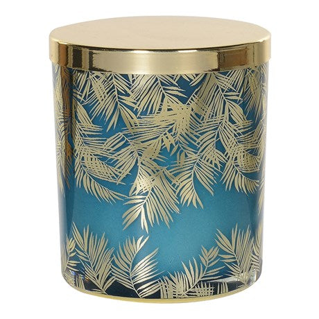 Gold & Green Tropical Candle