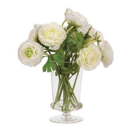 White Ranunculus Arrangement - Unique Gifts & Interiors