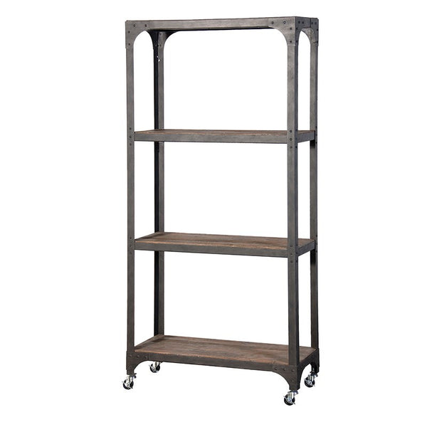 Rustic shelf unit on wheels - Unique Gifts & Interiors