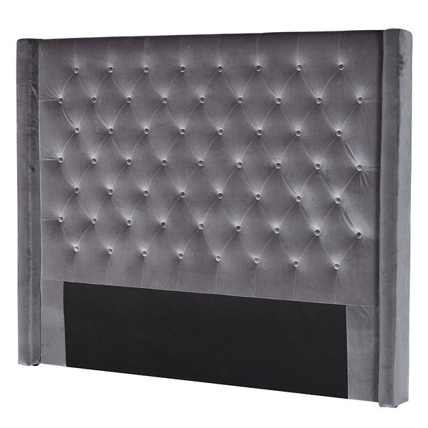 Grey Buttoned Headboard - Unique Gifts & Interiors