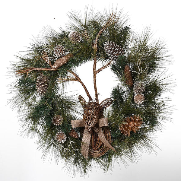 Reindeer/Pinecone Wreath