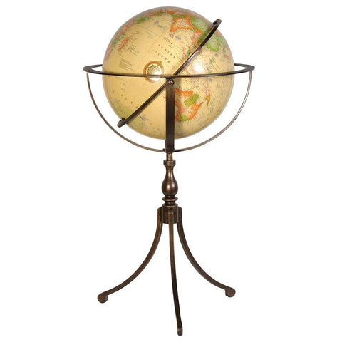 Large Globe with bronze stand - Unique Gifts & Interiors