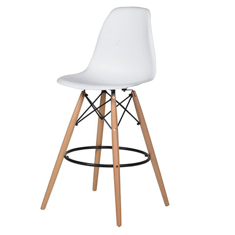 White bucket seat bar stool - Unique Gifts & Interiors