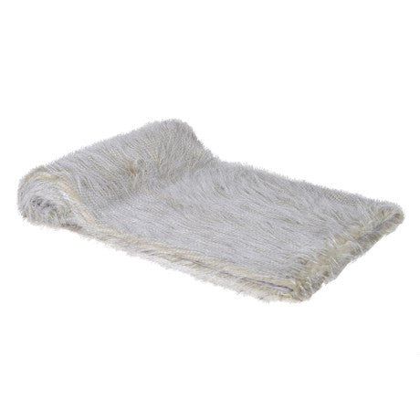 Grey Fur Feather Throw