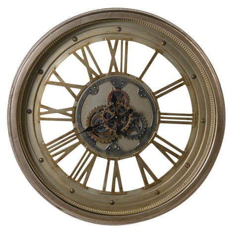 Large Champagne Cog Clock