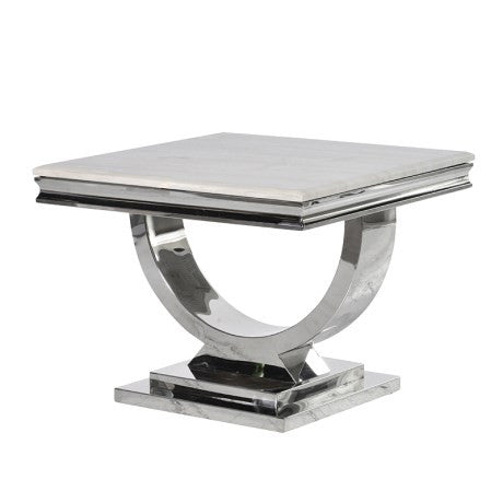 Chrome/Marble Side Table - Unique Gifts & Interiors
