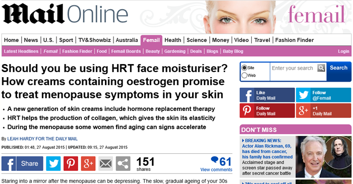 SHOULD YOU BE USING HRT FACE MOISTURISER?