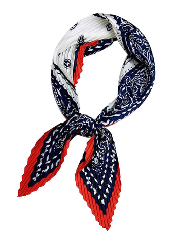 TSE BANDANA PLEATED SCARF