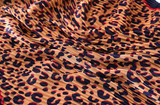 TSE LEOPARD PLEATED SCARF