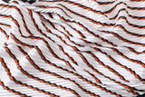 TSE WHITE STRIPE PLEATED SCARF
