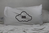 personalised name in cloud pillow cover