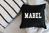 'roman' block personalised name cushion cover