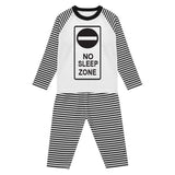 'No Sleep Zone' monochrome lounge set