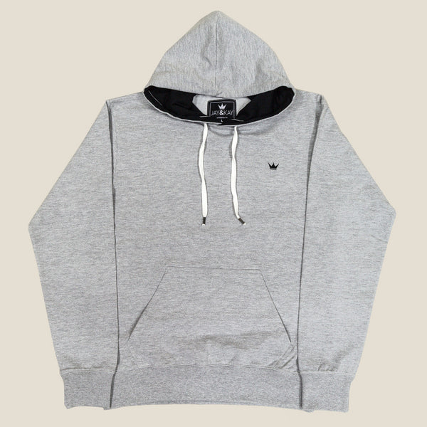 Mens 'Classic' Pullover Hoodie - Grey