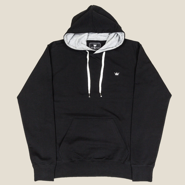 Mens 'Classic' Pullover Hoodie - Black