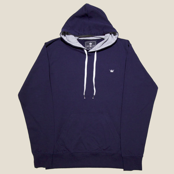 Mens 'Classic' Pullover Hoodie - Navy