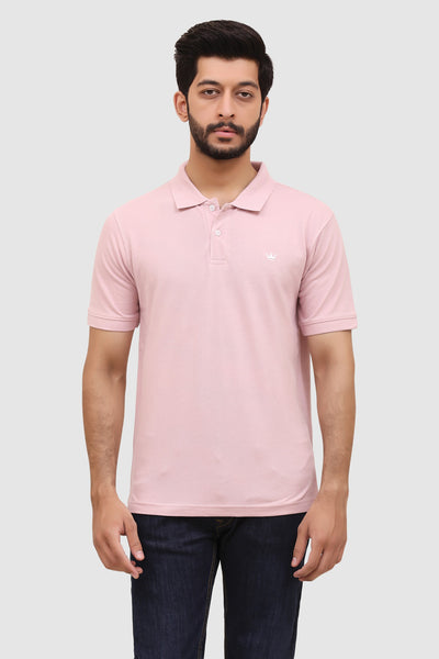 Men's 'Summer' Relaxed Polo - Pink Grape