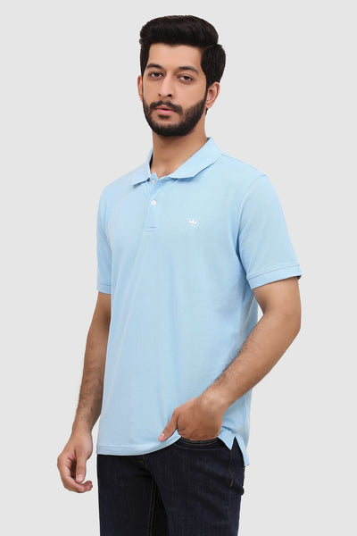 Men's 'Summer' Relaxed Polo - Summer Blue