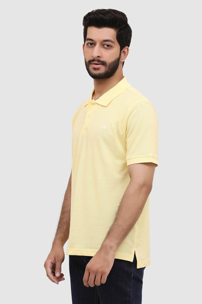 Men's 'Summer' Relaxed Polo - Amber Yellow