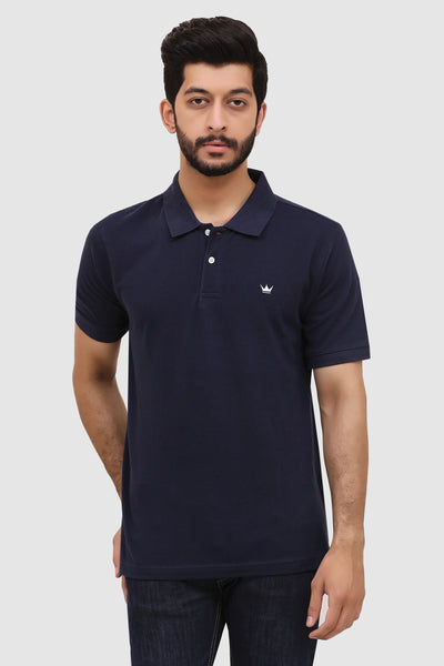 Men's 'Summer' Relaxed Polo - Navy Blue