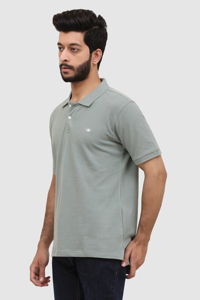 Men's 'Summer' Relaxed Polo - Sea Green