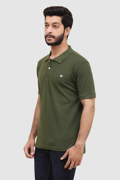 Men's 'Summer' Relaxed Polo - Woodland Green