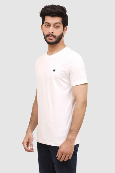 Mens Short-Sleeve Crew T-Shirt - White