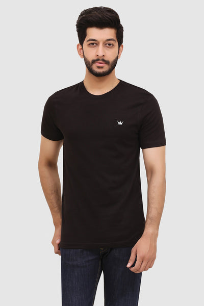 Mens Short-Sleeve Crew T-Shirt - Black
