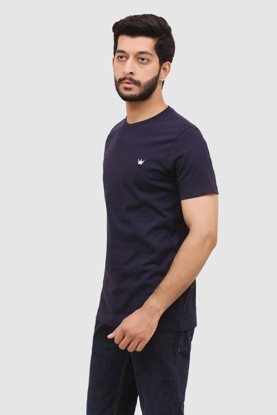Mens Short-Sleeve Crew T-Shirt - Navy Blue