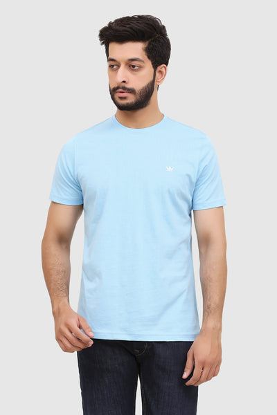 Men's Short-Sleeve Summer Crew T-Shirt - Summer Blue