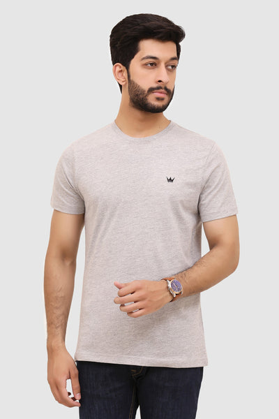Mens Short-Sleeve Crew T-Shirt - Heather Grey