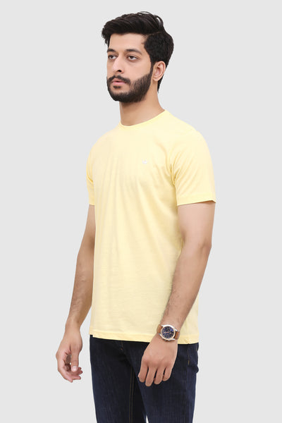 Men's Short-Sleeve Summer Crew T-Shirt - Amber Yellow