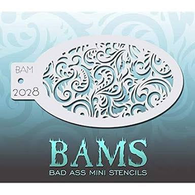 BAM- Bad Ass Mini Face painting Stencils 2028