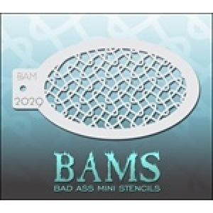 BAM- Bad Ass Mini Face painting Stencils 2029