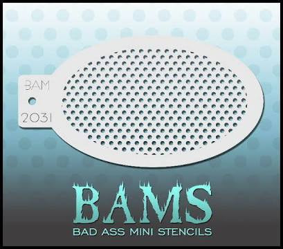 BAM- Bad Ass Mini Face painting Stencils 2031