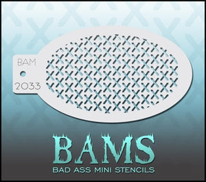BAM- Bad Ass Mini Face painting Stencils 2033