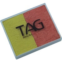 Tag Body Art Split Cake 50g- Pearl Yellow and Pearl Orange