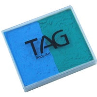 Tag Body Art Split Cake 50g- Regular Teal and Regular Light Blue