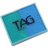 Tag Body Art Split Cake 50g- Pearl Teal and Pearl Sky Blue