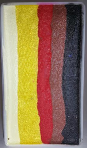 Face Paints Australia- One Stroke Rainbow Cake- Orange Chat 30g
