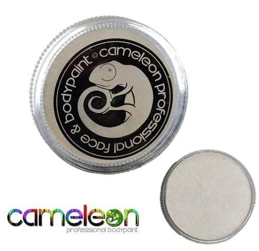 Cameleon Professional Face and Body Paint 32g Metallic Crystal White