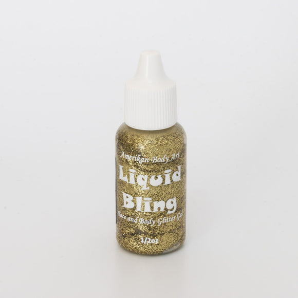 Amerikan Body Art -Liquid Bling 1/2 oz- Brilliant Gold