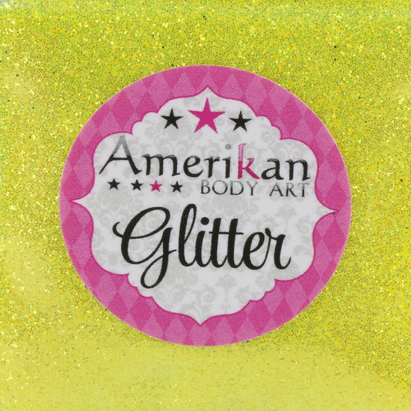 Amerikan Body Art Face Painting Glitter (Cosmetic Grade)- Lemon Zest
