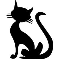 Glitter Tattoo Stencil - Sitting Cat