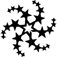 Glitter Tattoo Stencil -Star Circle