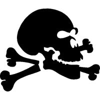 Glitter Tattoo Stencil - Jolly Roger
