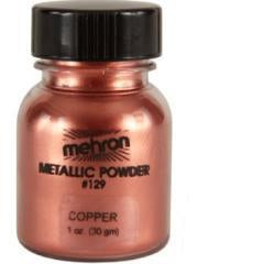 Mehron High pigmented Metallic Powders 1 oz-  Copper