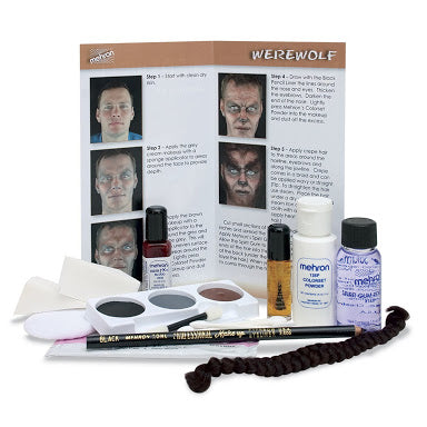 Mehron Werewolf Make Up Kit with Accessories