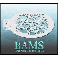 BAM- Bad Ass Mini Face painting Stencils 1006