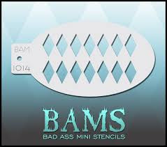 BAM- Bad Ass Mini Face painting Stencils 1014